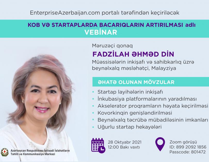 EnterpriseAzerbaijan portalının təşəbbüsü ilə beynəlxalq vebinar keçiriləcək