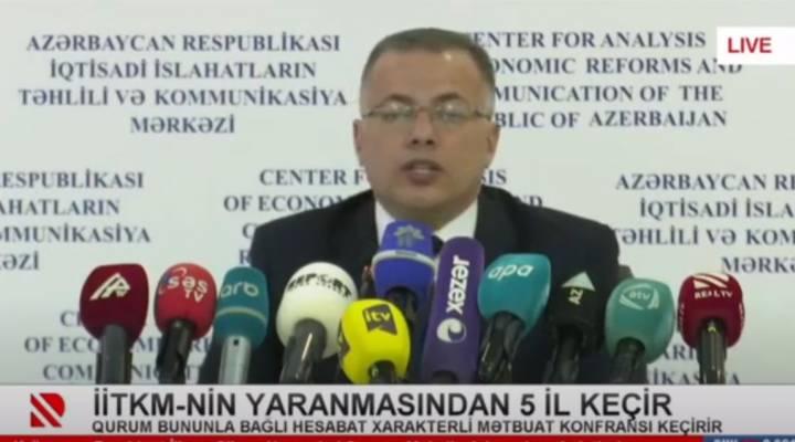 İİTKM-in 5 illik yubileyinə dair mətbuat konfransı REAL TV-nin canlı efirində