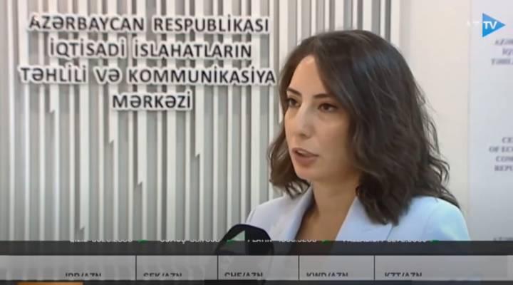 İİTKM-in baş analitiki Günay Quliyeva Qlobal İnnovasiya İndeksi barədə AzTV-ə müsahibə verib